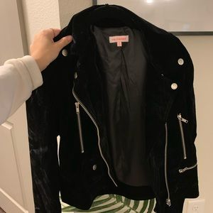 Velvet motto jacket